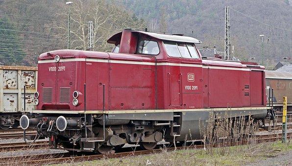 Diesel Locomotive, Mainline, Deutsche Bundesbahn, V100