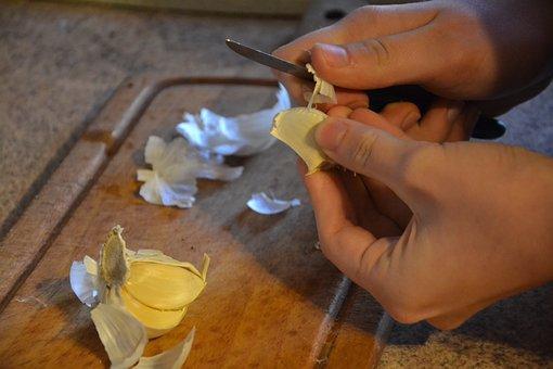Garlic, Peel, Kitchen, Główkowaty, Garlic Główkowaty
