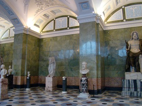 Hermitage, Winter Palace, Petersburg, Hall, Sculpture