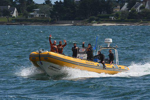 Boat, Zodiak, Diving School, Hobbies, Transportation
