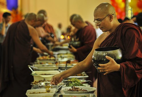 Theravada Buddhism, Monk Having Lunch, Sayadaw