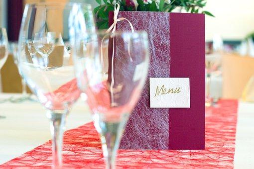 Glasses, Menu Cards, Restaurant, Map, Menu, Table