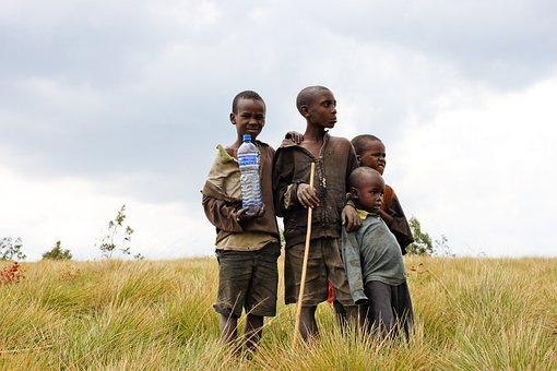 Children, Burundi, Bottle, Water, Poverty, Africa, Sky