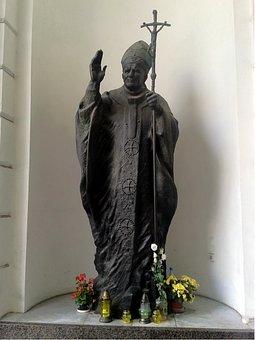 Statue, Pope John Paul Ii, Warsaw, Poland