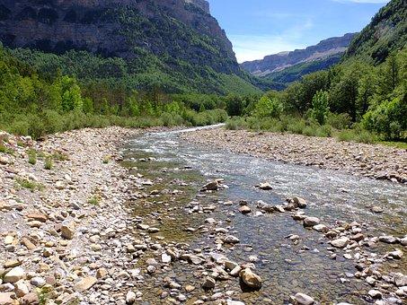 River, Ordesa National Park, Water, Aragonese Pyrenees