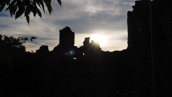 Ruin, Castle, Back Light