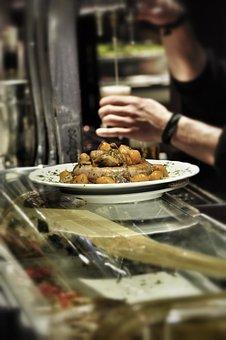 Top, Beer, Bar, Madrid, Ration, Tapas, Cane, Sausage