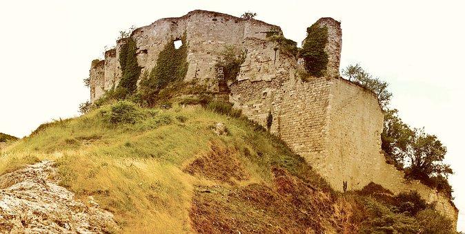 Ruin, Building, Ruins, Stones, Castle, France, Chateau
