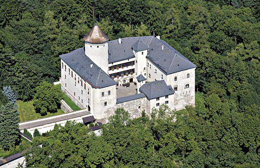 Castle, Rychumburk, Aerial View, Czech Republic