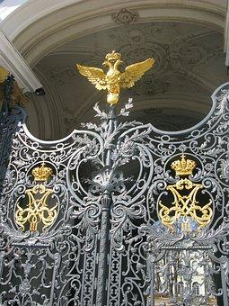 St Petersburg, Door, Russia, Decoration, Entrance