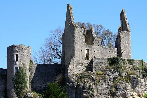 Crumbling Castle Berry France, France Castle Ruins