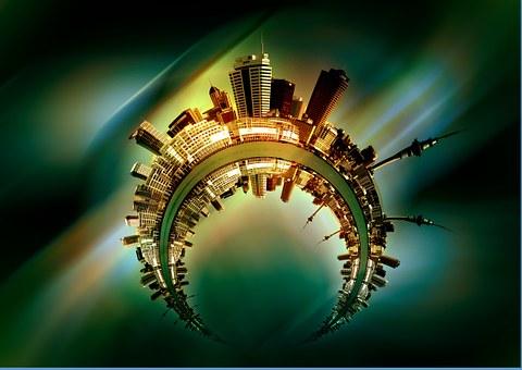 City, Skyline, District, Round, Arched, Human, Horizon
