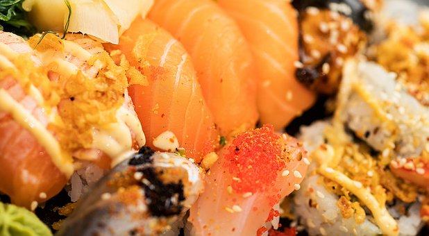 Sushi, Take Away, Food, Meal, Seafood, Japanese, Roll