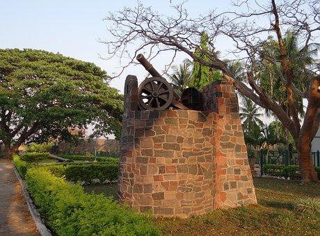Kittur Fort, Fort, Canon Post, Ruins, Kittur, Karnataka