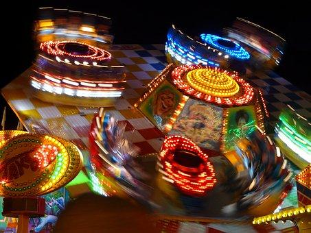 Year Market, Fair, Theme Park, Ride, Lighting, Fun
