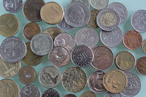 Money, Old Coins, Last Century, Finances, Eagle, Tails