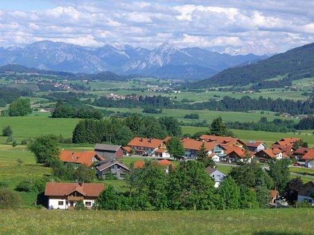 Mountain Panorama, Mittelberg Oy, Allgäu