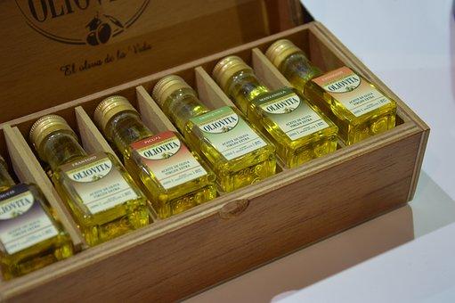Olive Oil, Oil, Box, Display, Bottles, Cooking, Food