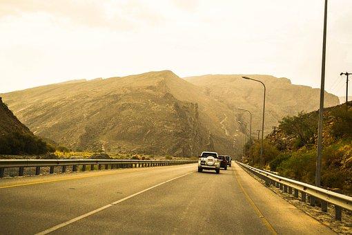 Car, Street, Travel, Oman, Nizwa, Jebel Akhdar