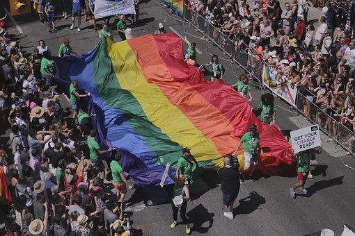 Pride, Flag, Pride Flag, Canada, Toronto, July, Gay