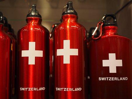 Water Bottle, Siggflasche, Switzerland, Red