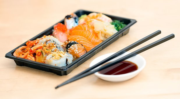 Sushi, Take Away, Food, Meal, Seafood, Japanese, Roll