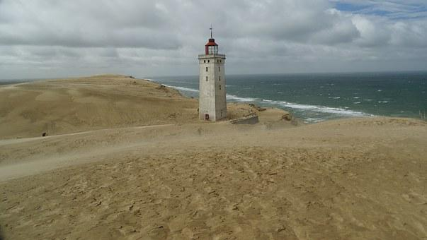 Denmark, Rudbjerg Knude, Lighthouse, North Sea