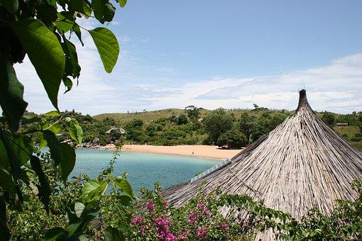 Malawi, View, Ocean, Sea, Beach, Seascape, Sky, Water