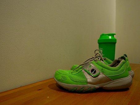 Sneakers, Drink, A Bottle Of, Beverage Bottle, Hall