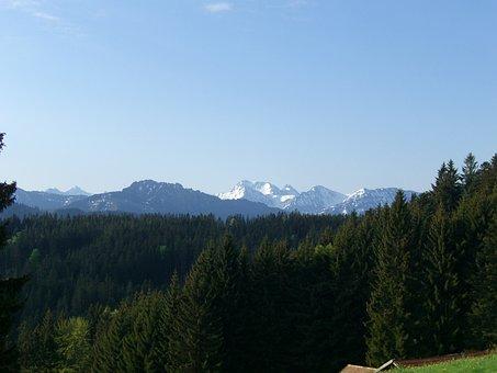 Sorg Schrofen, Alpine Panorama, Allgäu, Distant View