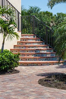 Stairway, Exterior, Tile, Staircase, Architecture
