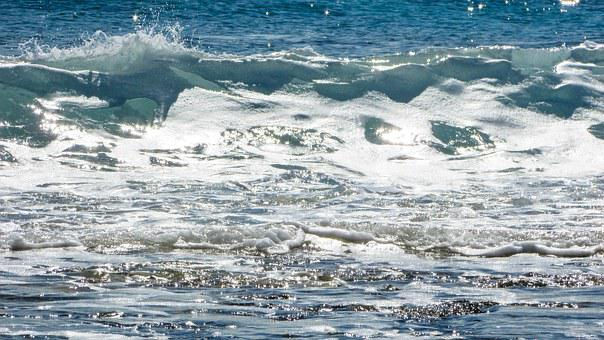 Wave, Spay, Foam, Sunlight, Bright, Clear, Day