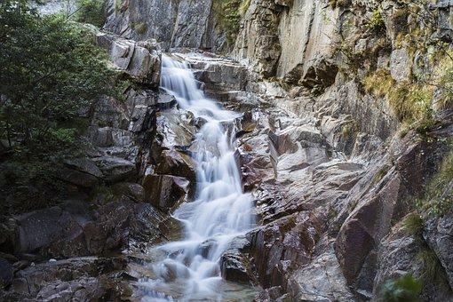 Mountain Stream, Rock, Gotthard, Pfaffensprung, Water