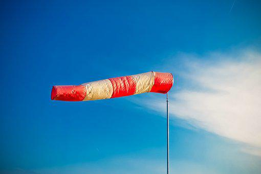 Air Bag, Wind Sock, Weather, Sky, Striped
