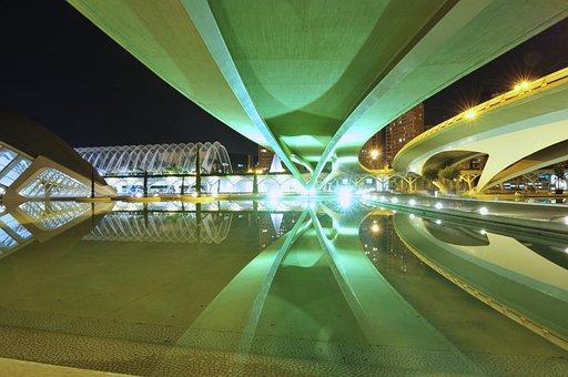 Architecture, Santiago Calatrava, Reflection, Water