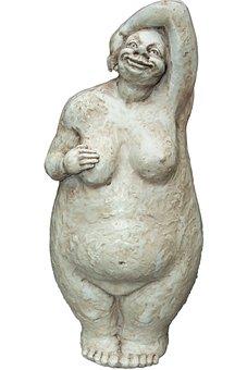 Decoration, Woman, Naked, Sculpture, Stone Figure, Art