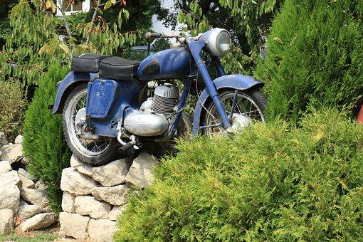 Motorcycle, Motor, Automotive, Wheel, Old Motorcycle