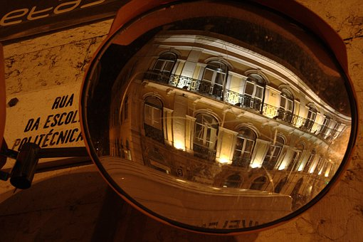 Mirror, City, Ball Mirror, Road, Distorted, Lisboa