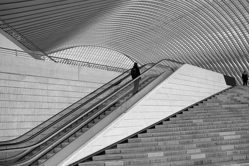 Train Station, Liège, Guillemins, Architecture, Belgium