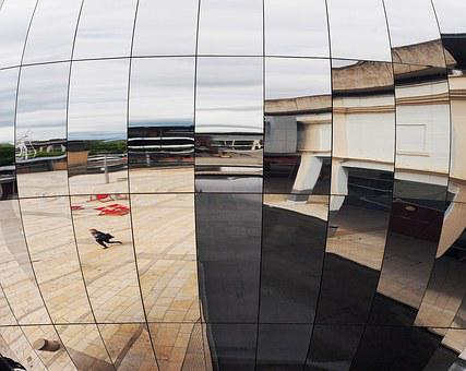 Reflection, Bristol Planetarium, Mirror, Building