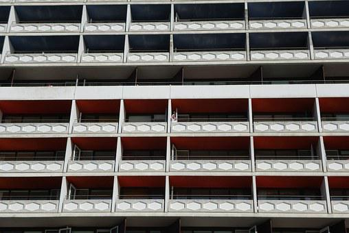 Skyscraper, Balconies, Building, Architecture
