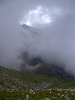 Bulgaria, Mountains, Pirin, Clouds, Light, Shadow
