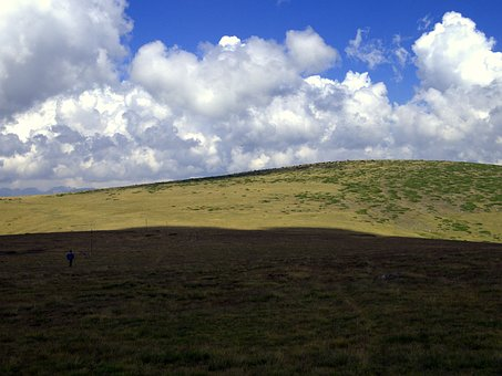Bulgaria, Mountains, Rila, Clouds, Shadow, Man, Country