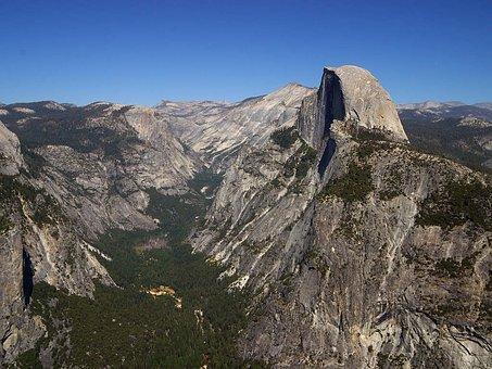 Yosemite Valley, Half Dome, Usa, California, Climb