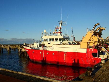 Ship, Boat, Sea, Channel, Port, North Sea, Friesland