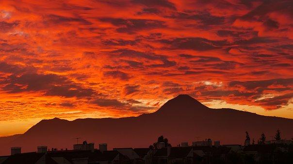 Sunset, Clouds, Santiago, Chile, Santiago De Chile