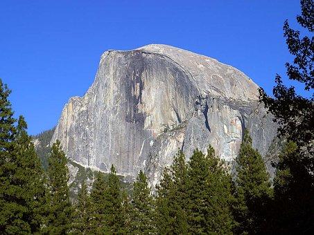 Half Dome, Yosemite, Valley, Usa, California, Climb