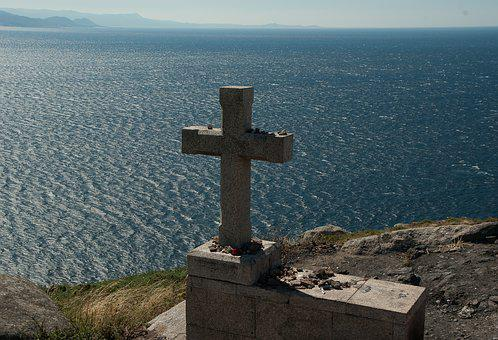 Spain, Galicia, Cape Finisterre, Cross