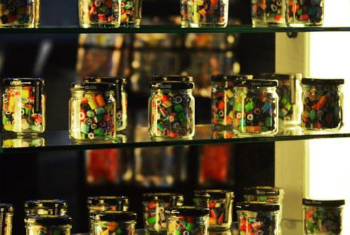 Candy, Shop, Candy Shop, Jars, Delicious, Sweets