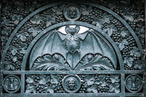 Bat, Door, Detail, Old, Dark, Cemetery, Horror, Mystery